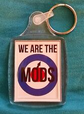 We Are The Mods Target Scooter Acrylic Keyring Passport size 45mm x 35mm