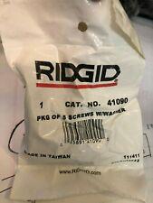 Quantity 5 Ridgid 41090 Screw with Washer