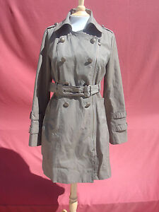 Cotton Between amp; Angeles Sz Guess Brown Women's Polyest Jacket M Coat Green Los 5YE1q1I