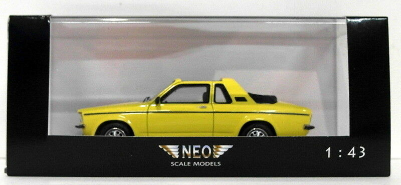 NEO  scala del modello in resina NEO43078-OPEL KADETT AERO 1 di 300-Giallo