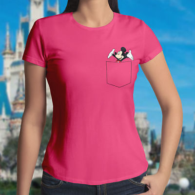Retro Classic Vintage Mickey Mouse Walt Disney Girl Juniors Womens Tee T-Shirt