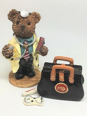 MD Doctor Medical Bag Hinged Trinket Treasure Box Trinkets Syringe Stethoscope