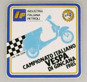 PRL) IP CAMPIONATO ITALIANO VESPA DI GINCANA 1985 ADESIVO COLLEZIONE STICKER