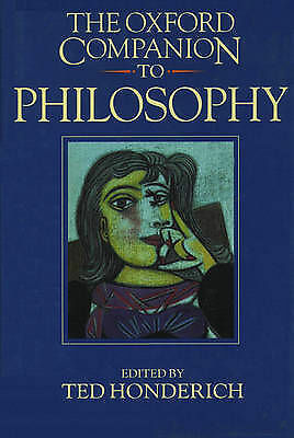 1 of 1 - The Oxford Companion to Philosophy by Oxford University Press (Softcover, 1995)
