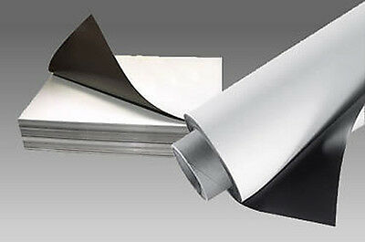 A4 610mm Rolls of 0.85mm White And Plain Flexible Magnetic Sheet Sheeting Signs