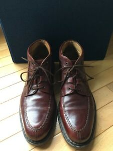 BACCO-BUCCI-BROWN-LEATHER-ANKLE-BOOTS-SZ-11-5-GREAT-SOLES-ULTRA-CHILL-ITALY