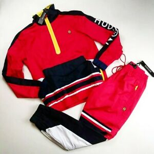 Hudson-outerwear-mens-2p-set-100-AUTHENTIC-SIZE-LARGE-L-S-SWEATER-amp-PANTS-red