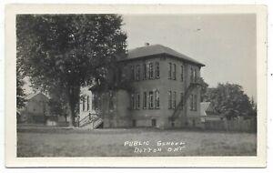 Elgin-County-DUTTON-ONTARIO-Public-School-Real-Photo-Postcard