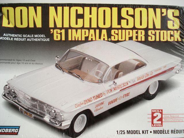 Lindberg 72175 1 25 1961 Chevy Impala Don Nicholson's Super new in the box