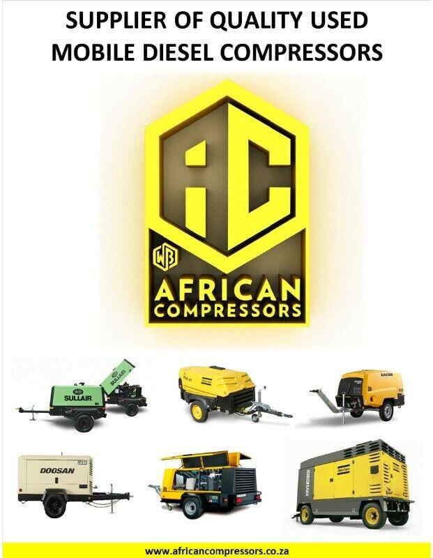 Quality Used Mobile Diesel Compressors : 185 - 1050CFM