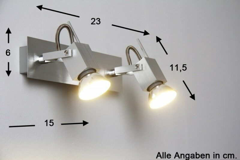 Led applique alluminio corridoio tavole tavole tavole faretti