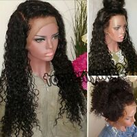 Hot Beauty Brazilian Virgin Human Hair Full Front Lace Wig With Baby Hair Wave T