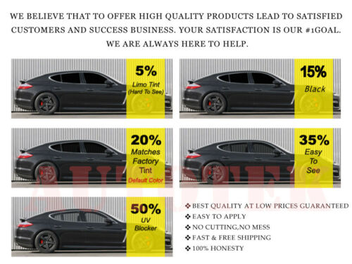 PreCut All Sides /& Rear Window Film Any Tint Shade /% for all Cadillac Glass
