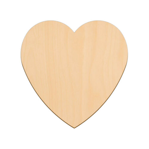 VALENTINES LOVE HEART Shape Craft Blank 22.2cm BIRCH Wood Decoration Tag