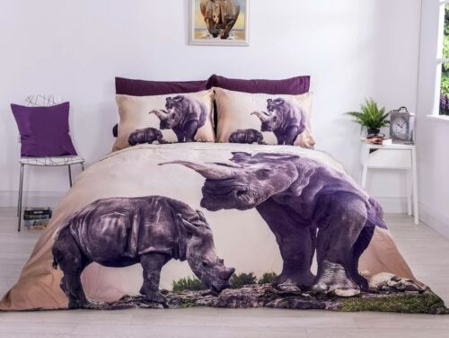 King 3D Effect Digital Bedding Set Duvet Cover With Pillowcases Single Double