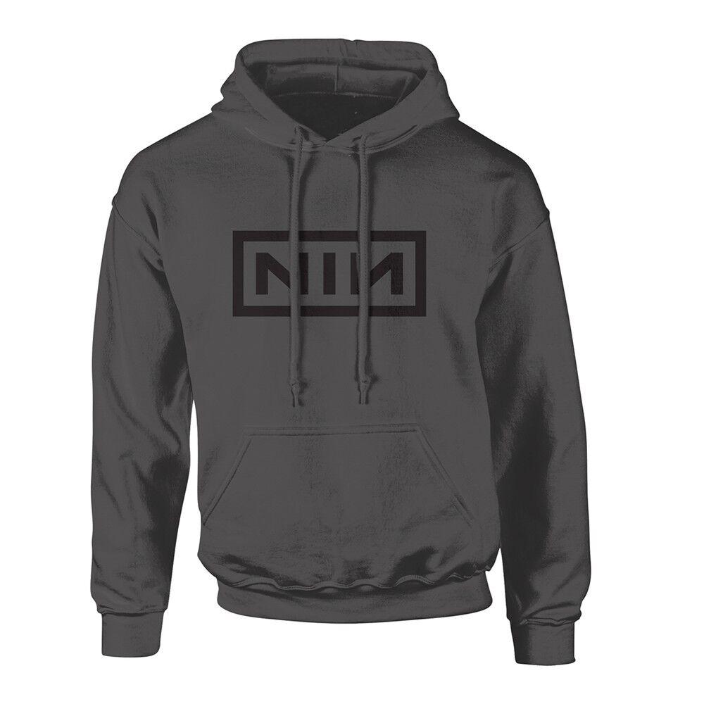 NINE Nuovo INCH NAILS-Classico Logo Nero Nuovo NINE Felpa Con Cappuccio b25282