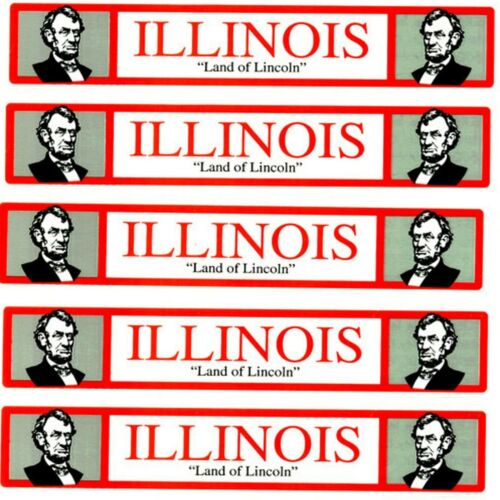 Travel TITLE STATE Scrapbook Stickers! **ILLINOIS** 5 Sheets