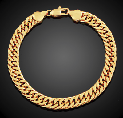 Fashion Jewelry Diligent Goldkette Breit 8mm Armband Arm Vergoldet Für Männer Herrenkette Hip Hop Biker Buy Now