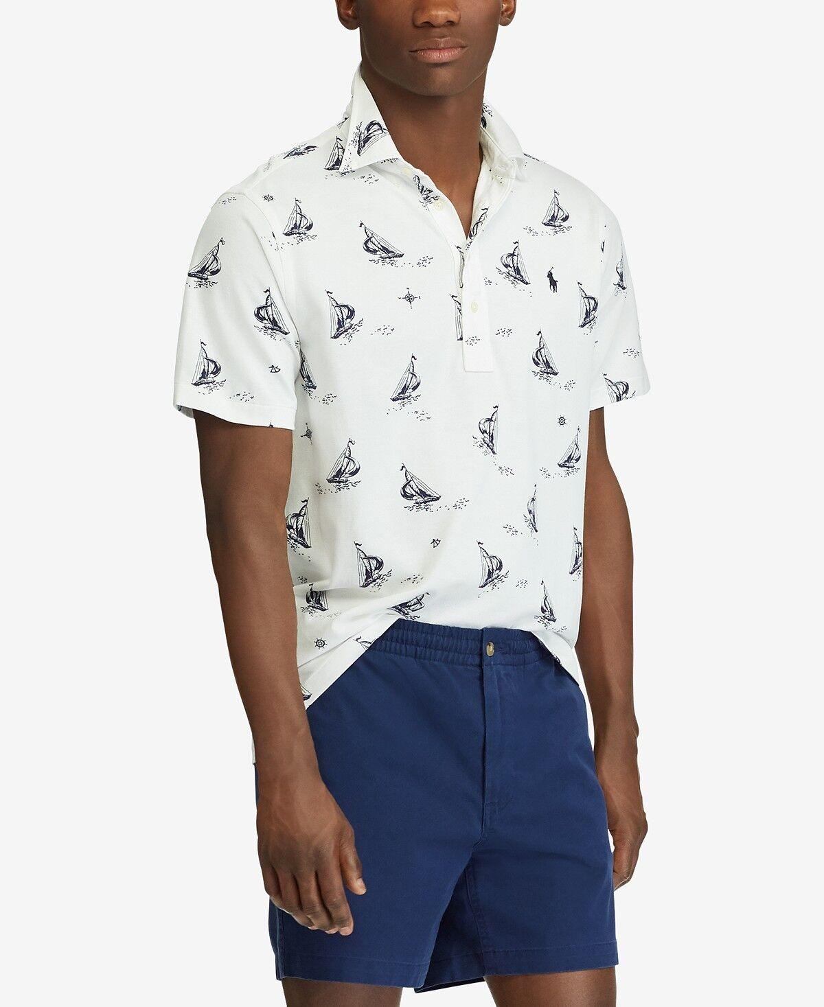 NEW Polo Ralph Lauren Men's Classic Fit Knit Oxford Shirt Sailboat MSRP  M