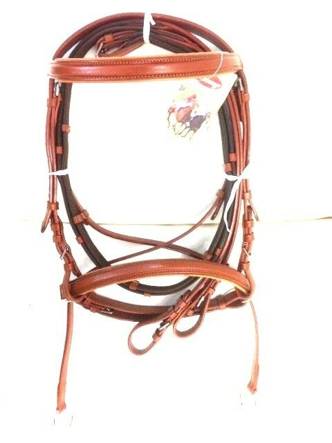 New DD Leather Cook Padded CrossOver Bitless Bridle Tan Free  Shipping  a lot of concessions