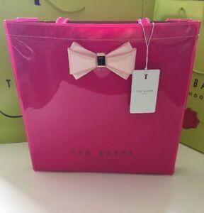 Bnwt Bow Tote handbag Baker Ted Icon Fuchsia Large Designer Bag fCrf7Xqw