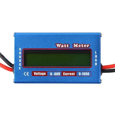 Digital LCD Watt Meter Battery Voltage Current Power Analyzer Tester 60V/100A YK