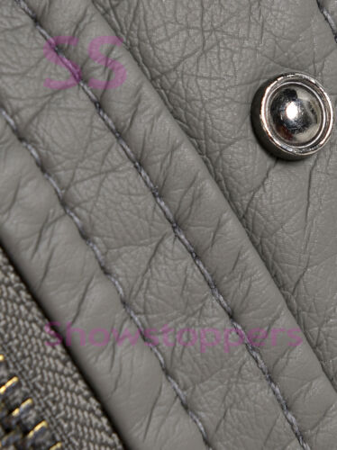 Girls Biker JACKET Age 7 8 9 10 11 12 13 Faux Leather Hooded Coat Black Grey