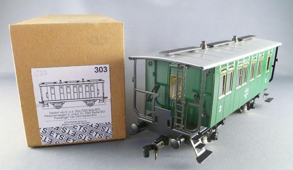 ETS 303 Ech O Csd Voiture Tôle 2°3° classee Série Bci Livrée verde Neuf Boite