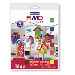 Fimo Soft Basic Set Start Up Pack Article 8023 10 - 9 Couleurs Livraison Dessiné