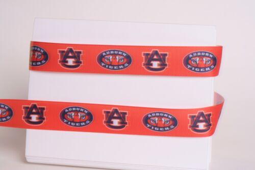"Auburn Tigers 7//8/"" University Gros-Grain Ruban 1,3,5,10 yards from USA"