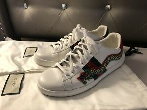 04292e9e0a27 Image is loading Gucci-Ace-Dragon-Embroidered-Sneaker-SIZE-37-5US-