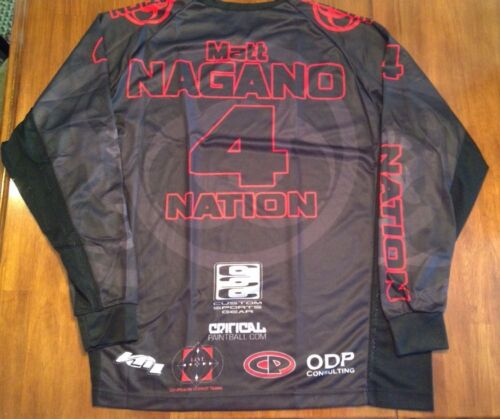 Black and Red Nation Graphic Paintball Shirt Size XXXL See Variations NEW