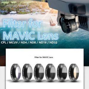 MCUV-ND4-8-16-32-CPL-Objektiv-Filter-6-stuecke-Ultraduenne-fuer-DJI-MAVIC-Pro-GE