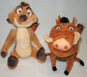"""OFFICIAL DISNEY THE LION KING TIMON LARGE 12/"""" SOFT TOY PLUSH TEDDY NEW WITH TAGS"""