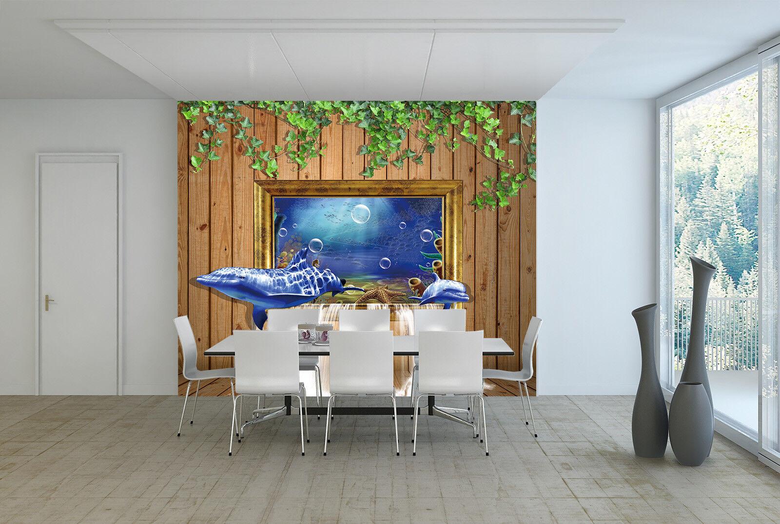 3D Delphin Kreativer  7 Tapete Wandgemälde Tapete Tapeten Bild Familie DE Summer