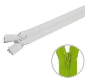 YKK Kunststoff Kleider & Kissenbezüge Reißverschluss 60cm weiss - 501