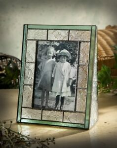 J-Devlin-Glass-Vintage-amp-Sage-Green-Stained-Glass-4x6-Vertical-Picture-Frame