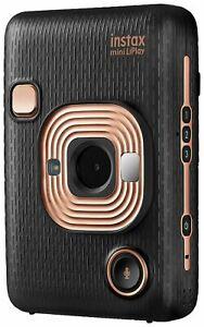 Fujifilm Instax Mini LiPlay Hybrid Instant Camera Elegant Black Polaroid Instant