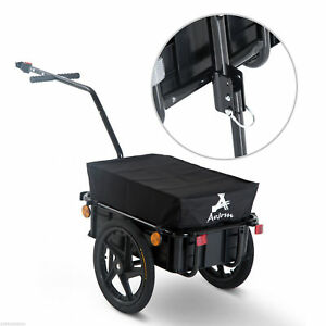 Cargo-Trailer-Steel-Large-Bike-Bicycle-Luggage-Cart-Carrier-Shopping-Wheel