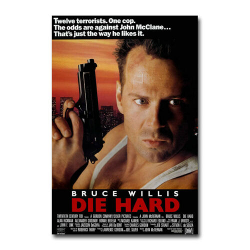 Die Hard Movie Art Silk Canvas Poster 13x20 24x36 inch