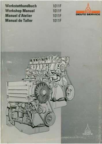 BF4M F3L F3 F4 F4L BF4L Manual De Servicio Taller Deutz Motor 1011 F-F2L