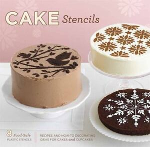BRAND-NEW-Cake-Stencils-Kit-Recipes-amp-Decorating-Ideas-for-Cakes-amp-Cupcakes