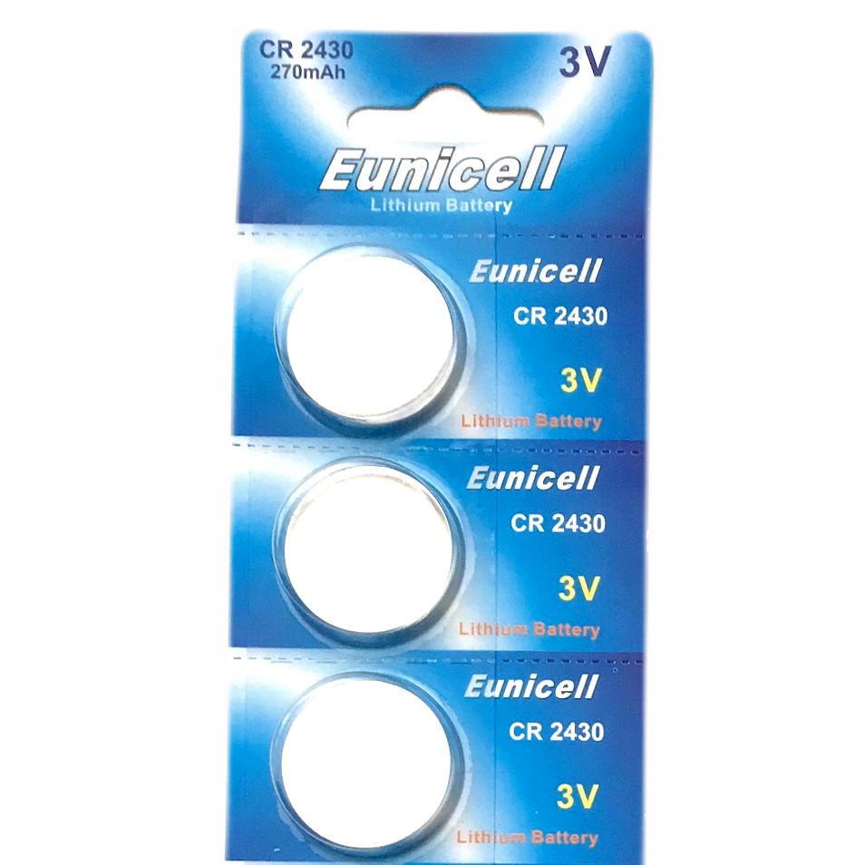 3 x CR2430 Batteries 3V Lithium Coin Cell Battery DL2430 K2430L ECR2430 Eunicell