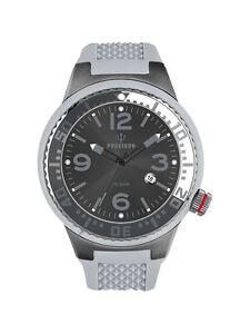 POSEIDON-Unisex-Armbanduhr-S-Analog-Silikonband-UP00423-Grau-Anthr-UVP-129