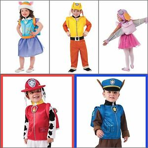 Image Is Loading Paw Patrol Costumes Dress Up Marshall Skye Rubble