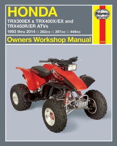 300EX,450R,450ER REPAIR,SERVICE OWNERS SHOP MANUAL M2318 HONDA TRX 400EX