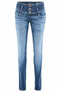 Salsa Mystery Push Up Premium Wash Mid Blue Used 119088.8503 -slim Fit Jeans