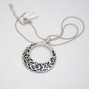 Lia-Sophia-jewelry-silver-plated-Polished-Enamel-Flower-Pendant-Necklace-Chain