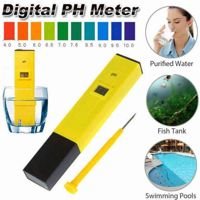 Pocket Digital PH Meter Water Tester Pen LCD Monitor Pool Aquarium Laboratory