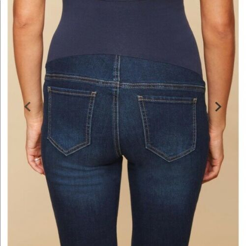 Indigo Blue Petite Secret Fit Belly Stretch Bootcut Maternity Jeans Size Large